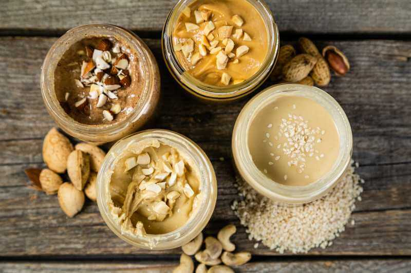 assorted nut butters
