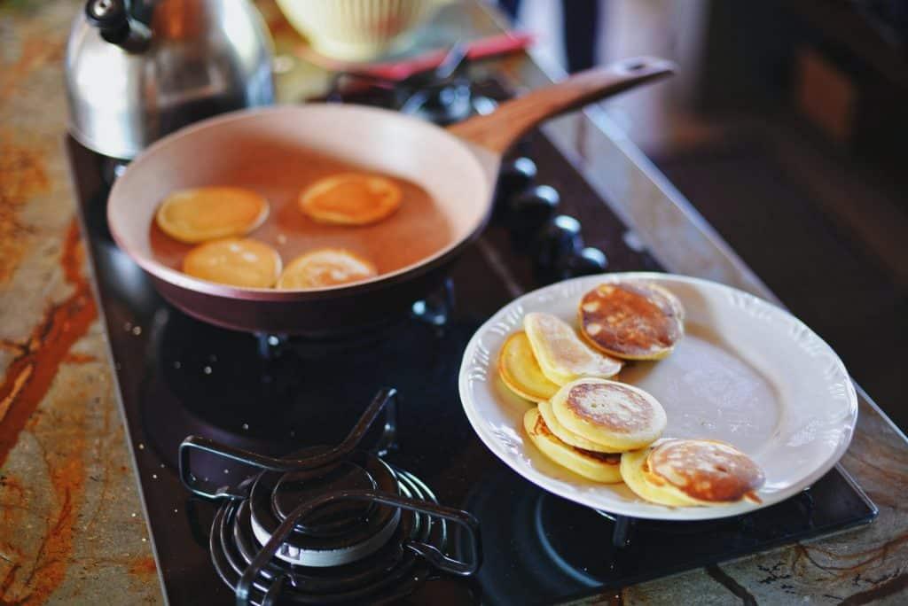 cooking mini pancakes
