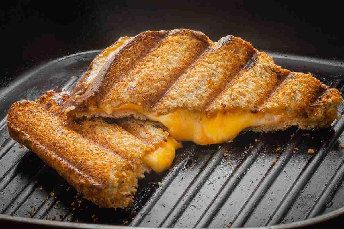 oozing cheese sandwich