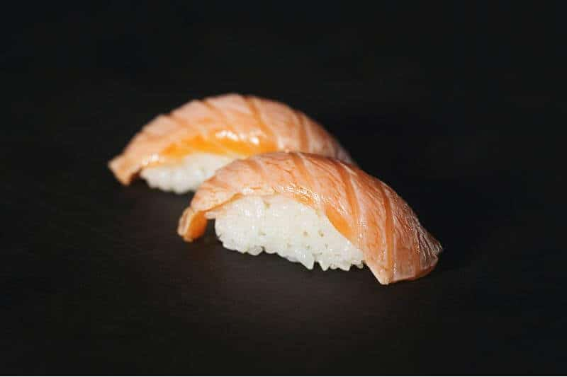 close up view of sushi