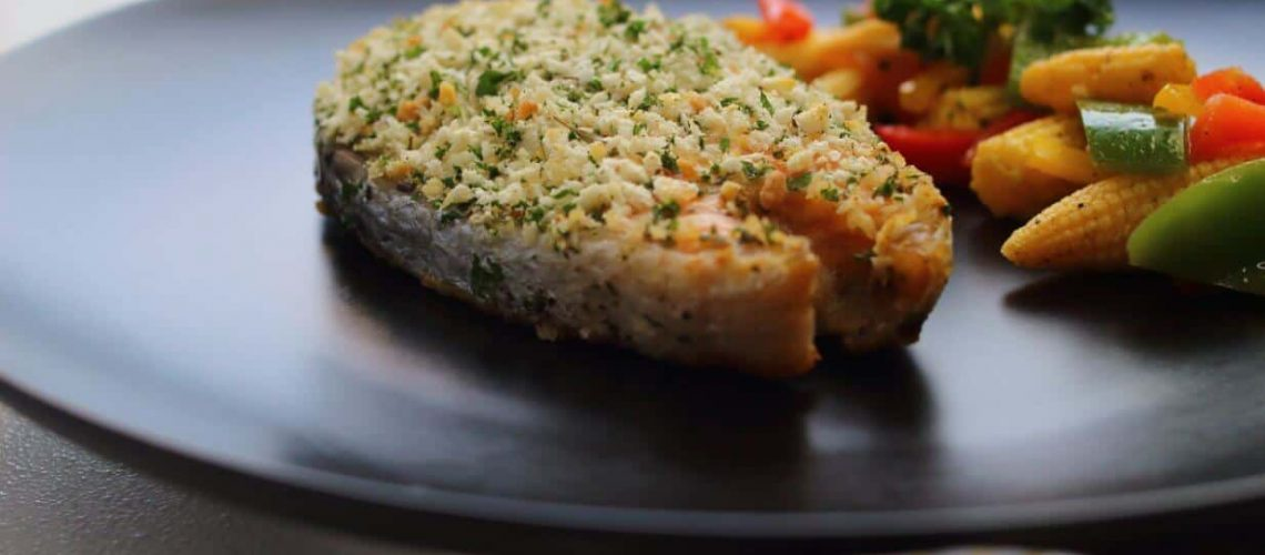 Herb Crusted Baked Salmon