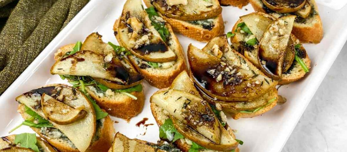 Roasted Pear Bruschetta